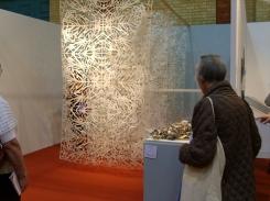 Leaves installation by Chiaki Morita.